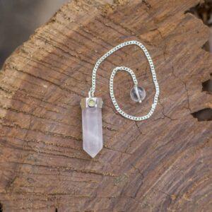 Rose Quartz And Peridot Pendulum