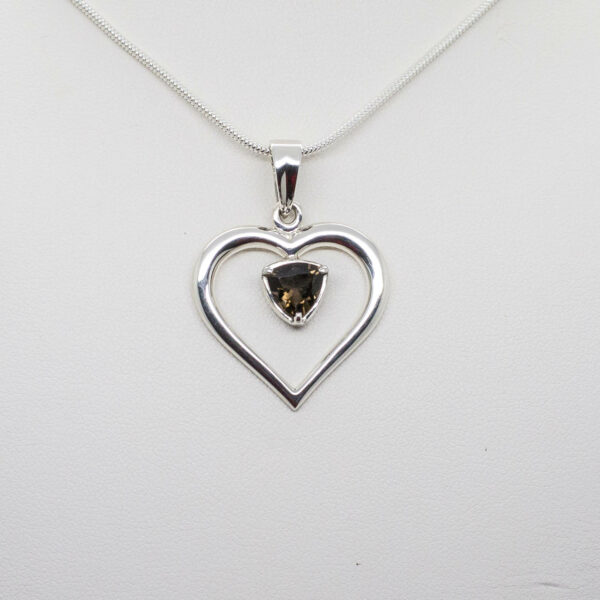 Smokey Quartz Heart Shape Pendant (2)
