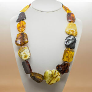 Multi Colour Baltic Amber Necklace