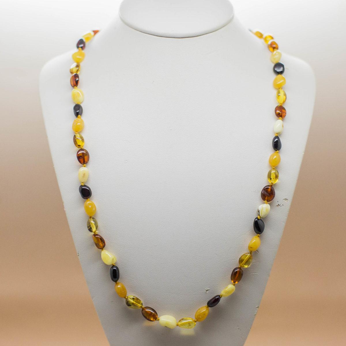 Multi Colour Baltic Amber Necklace