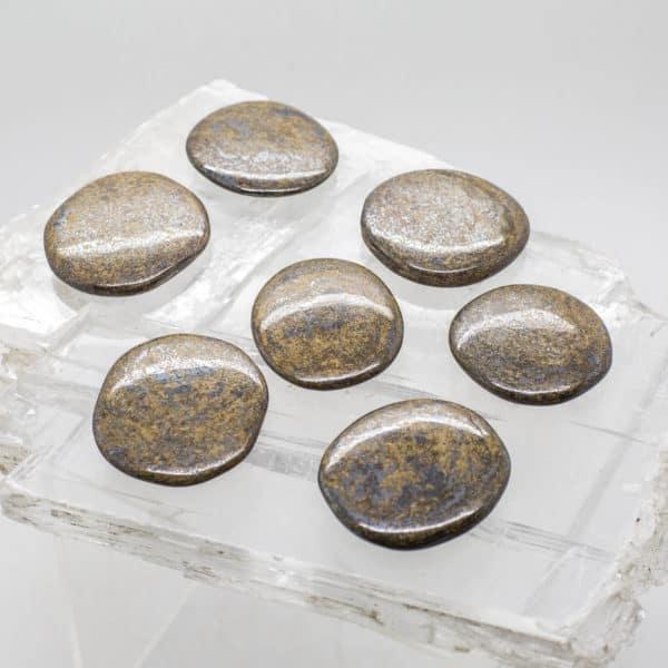 Bronzite Flat Stone