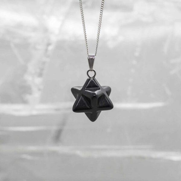 Shungite Merkabah Star Pendant