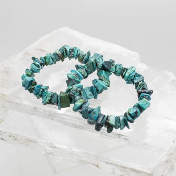 Turquoise Chip Bracelet (1)