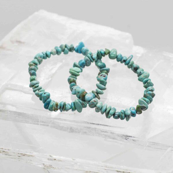 Turquoise Tumbled Stone Bracelet (1)