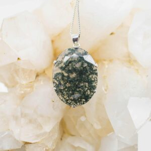 Moss Agate Faceted pendant (3)