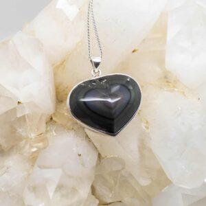 Rainbow Obsidian Heart Shaped Pendant (1)