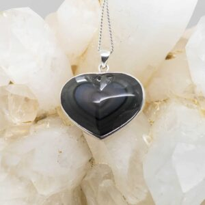 Rainbow Obsidian Heart Shaped Pendant (3)
