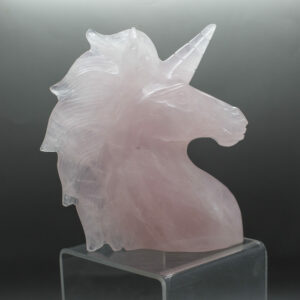 Rose Quartz Unicorn Head (1)