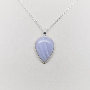 Blue Lace Agate Pendant (1)