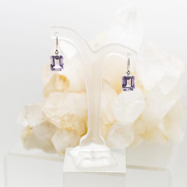 Amethyst Faceted Earrings (2)