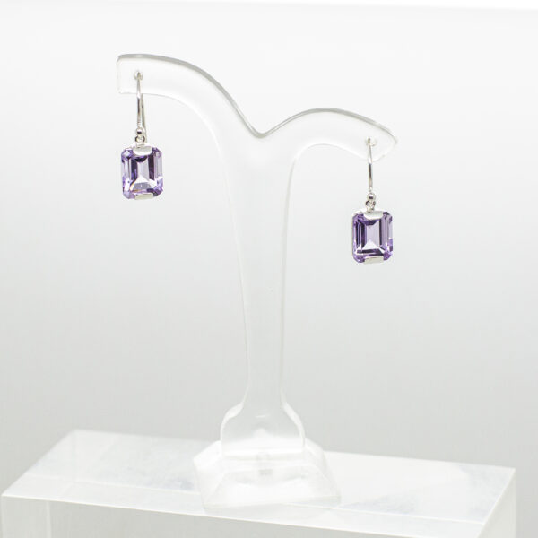 Amethyst Faceted Earrings (1)