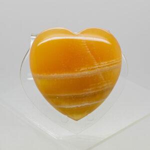 Orange Calcite Heart (3)