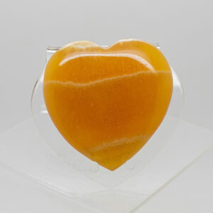 Orange Calcite Heart (3)
