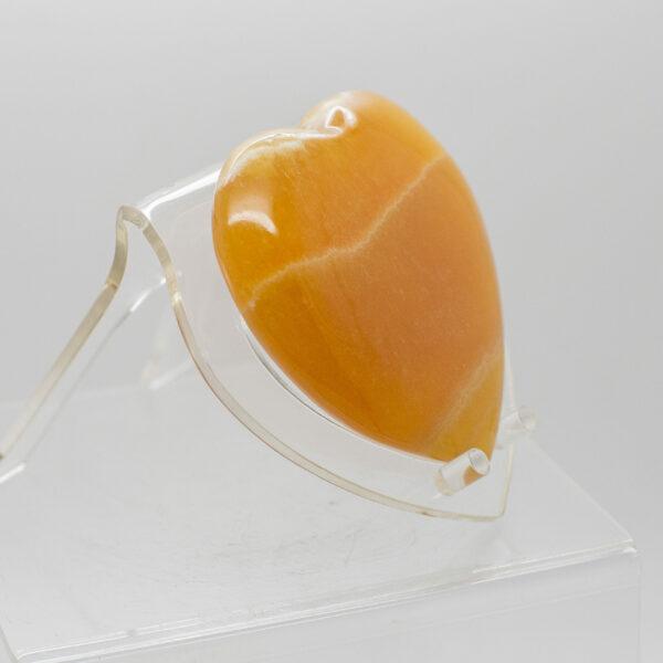 Orange Calcite Heart (2)