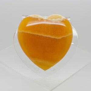 Orange Calcite Heart (1)