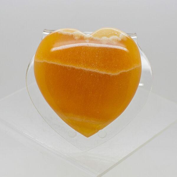 Orange Calcite Heart (1)