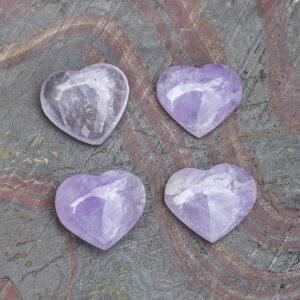 Pale Amethyst Heart (1)