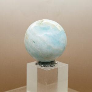 Caribbean Blue Calcite Sphere (1)