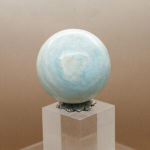 Caribbean Blue Calcite Sphere (7)