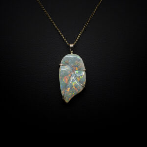Opal Pendant Lightning Ridge 9ct Gold (1)