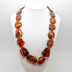 Baltic Amber Bead Necklace (1)