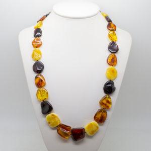 multi colour amber necklace