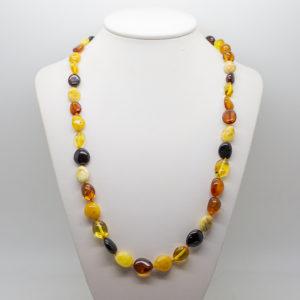 mulit colour amber necklace