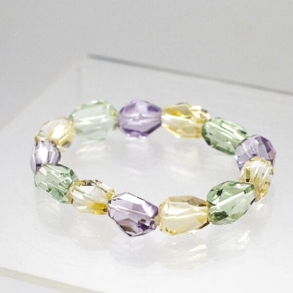 Amethyst Citrine Green Amethyst Bracelet